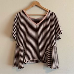 bp Stripe V-Neck Tee Shirt Size XXL